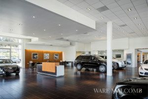 Interior photography of Allen Cadillac in Laguna Niguel, California designed by Ware Malcomb Architects.