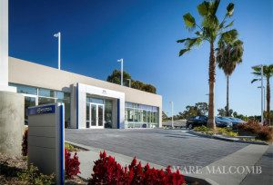 Exterior photography of Allen Hyundai in Laguna Niguel, California designed by Ware Malcomb Architects.